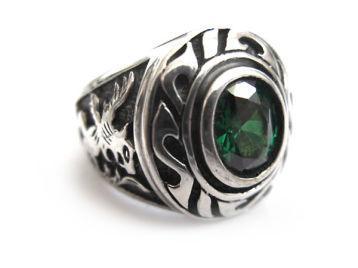 Женский перстень Нефертити (изумруд