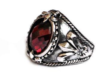 Серебряный перстень с бирюзой