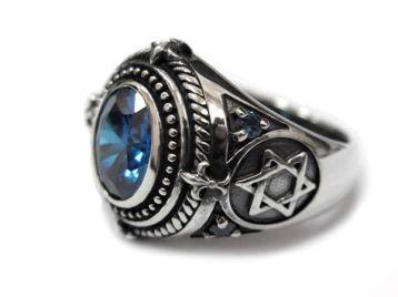 Описание: Серебряное кольцо с топазом